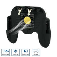 Mobile Joystick Controller Turnover Button Gamepad for iPhone PUBG iOS Android Operating Gamepad With Cooling Fan Game Trigger
