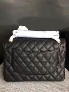 Classic Handbag Cross-Bag Wild-Chain Ladies Bag Caviar Leather High-Quality Flip-Bag