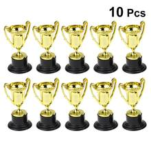 10PCS Mini Plastic Gold Cups Trophies For Party Children Early Learning Toys Prizes Children'S Holiday Trophy Reward Giveaway(China)
