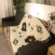 Winter Soft Blanket Cotton Throw Travel Bohemian Plane Decorative Blankets with Tassel Sheer Cover for Beds Sofa(China)