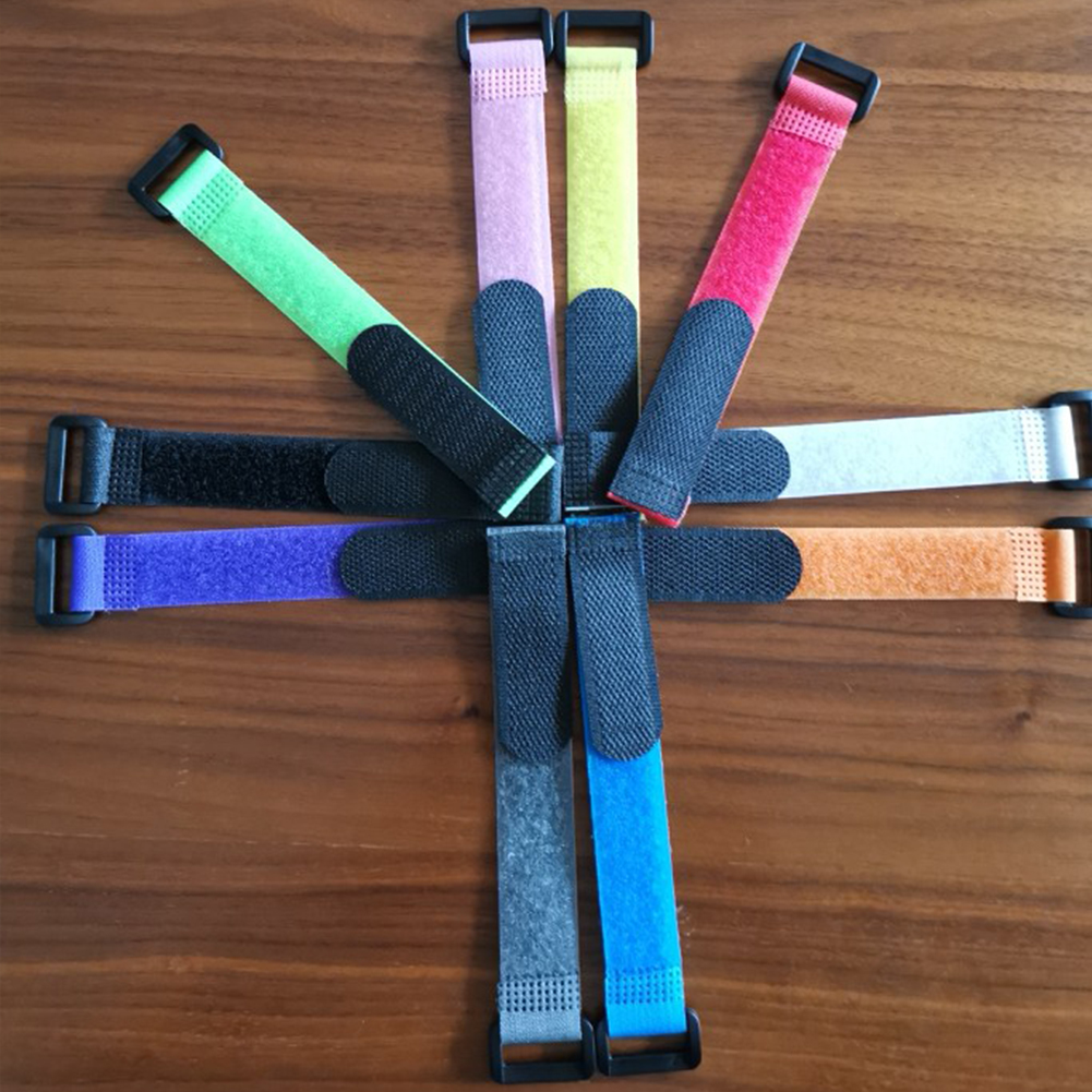 10pcs Fishing Rod Band Holder Strap Adjustable Magic Sticker Wrap Tool Nylon