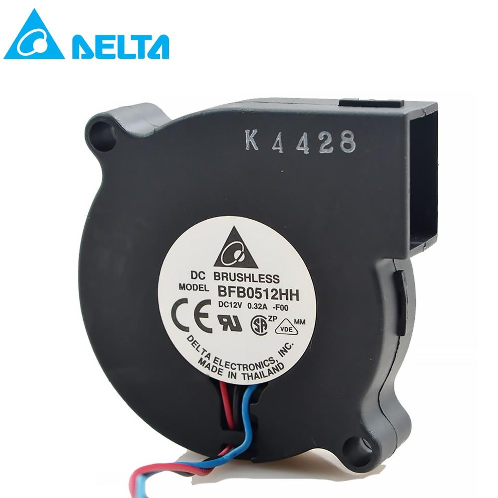 For Delta BFB0512HH 5015 12V 0.32A 50 X 50 X 15mm Turbo Fan Centrifugal Fan Blower Fan 5015 Pmw 2/3/4 PIN