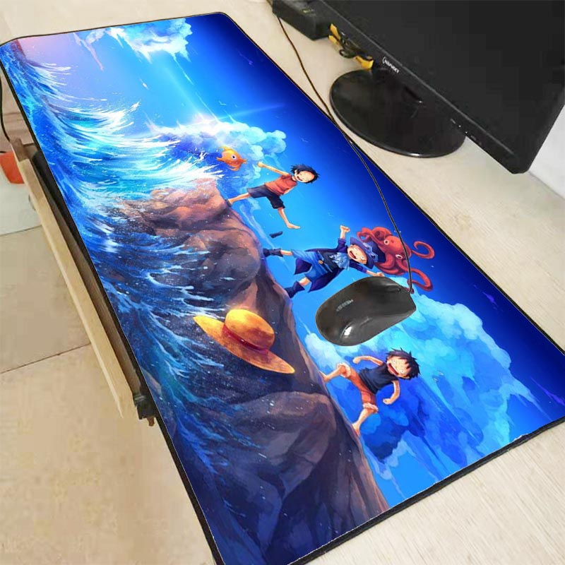 MRGBEST One Piece Anime Speed Locking Edge Large Size Mouse Pad Waterproof Game Desk Mousepad Keyboard Mat for CSGO Dota LOL