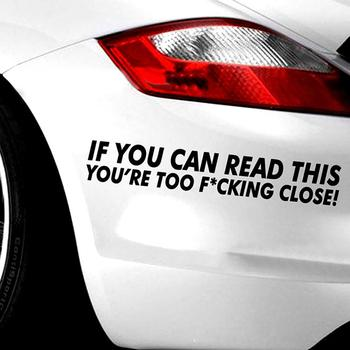 Car Sticker Funny Cool If You Can Read This Car Decal Sticker Truck SUV Decal Decoration car accessories наклейки на авто image