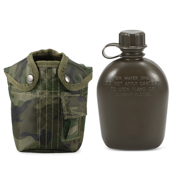 1L Outdoor Military Canteen Bottle Camping Hiking Backpacking Survival Water Bottle Kettle with Cover 3