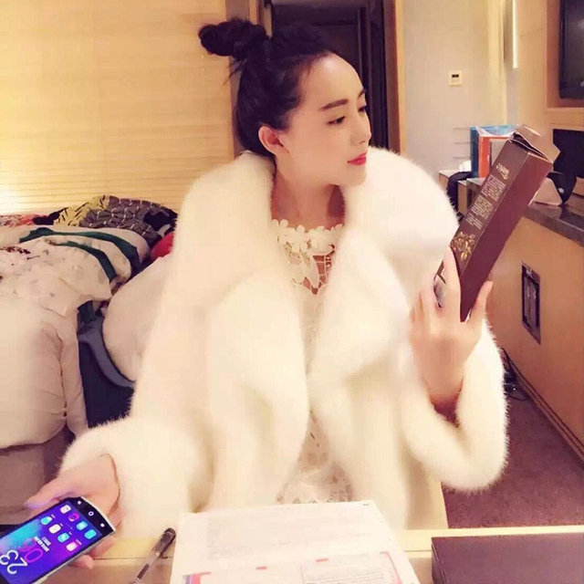 Фото женская длинная свободная куртка из искусственного меха норки цена