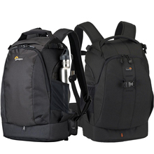Bolsa de foto de cámara a prueba de agua, genuino Lowepro Flipside 400 AW 400 AW II mochila de lente de trípode de viaje Digital SLR para Canon Nikon