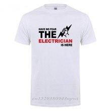 T-Shirt manches courtes col rond en coton pour homme, cadeau d'anniversaire amusant, pour papa, père, mari, électricien