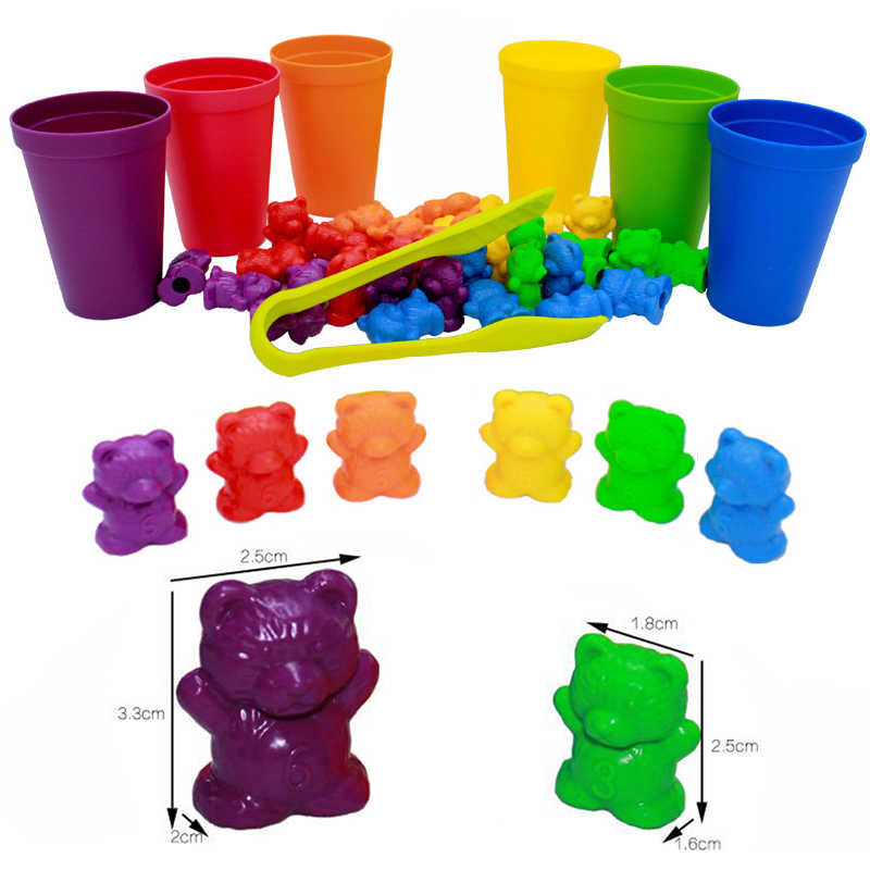 Best Gift for Children Without a Choice in Various Festivals Evira Rainbow Counting Bears Toys Counting Skills Learning Toy