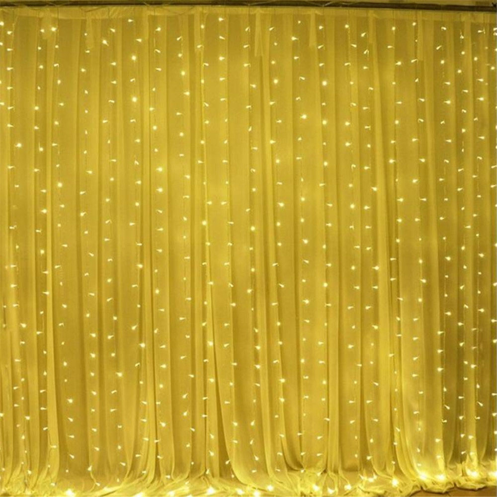 LED Curtain Light 3x3M 300 Leds Icicle String Lights 8 Modes For Wedding Festival Party Ceremony Christmas Decoration