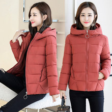 2019 New Fashion Autumn Winter Women Parka Down Cotton Padded Slim Coat Hooded Jacket Warm Female Ladies Outwear Plus Size 6XL цены онлайн