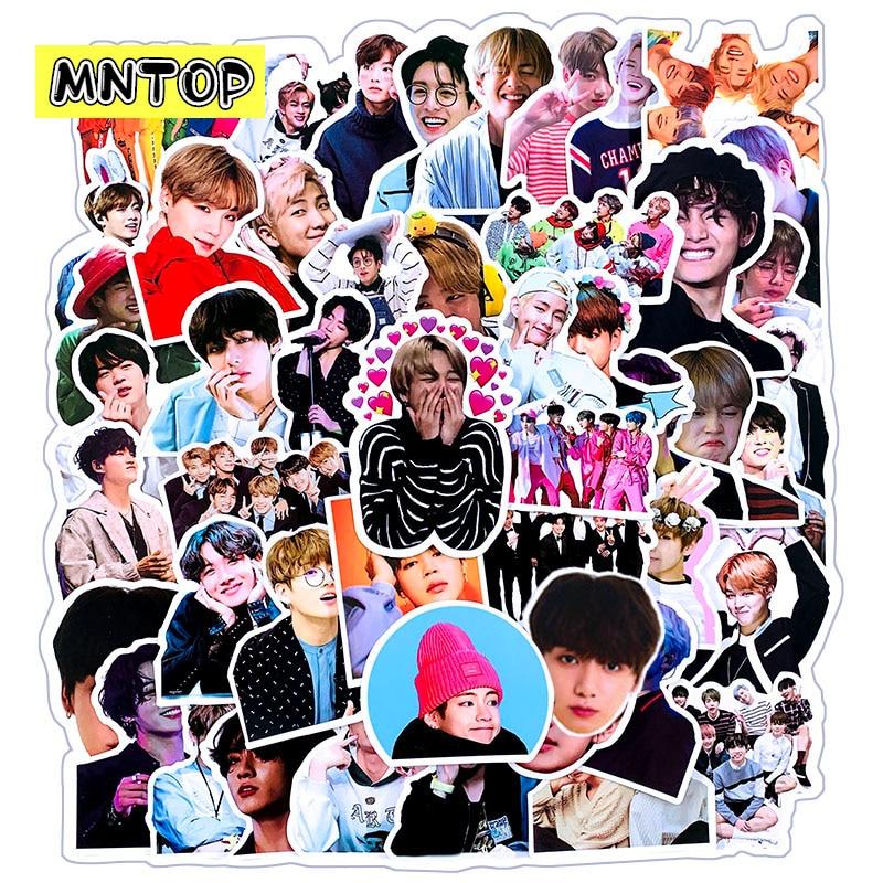 10 Вт, 30 Вт, 50 шт./компл. BTS Bangtan наклейки для мальчиков поп звезд наклейки, милые фотографии игрушки наклейки для чемодан для скейтборда ноутбук