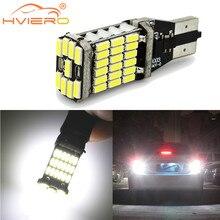 T15 W16W Auto marcha atrás LED luz de placa de licencia baúl blanco 45SMD 920, 921 con tacón de cuña 912 Canbus LED de copia de seguridad de freno luz de estacionamiento