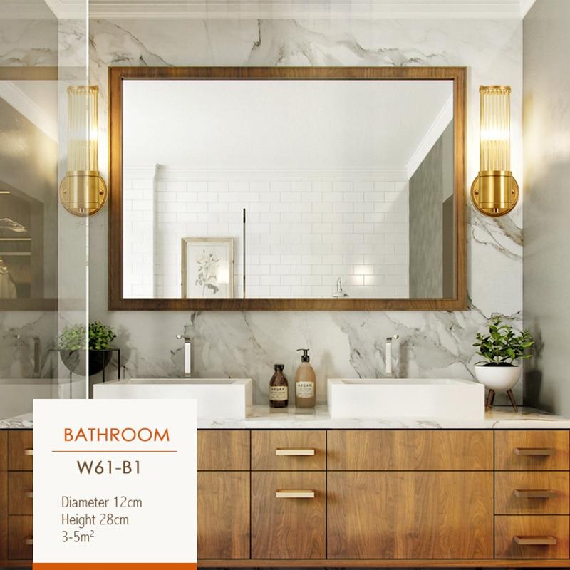 Preto de cobre moderno lâmpada parede para o quarto lâmpada cabeceira sala estar corredor lâmpadas parede do banheiro luz iluminação casa luminárias - 3