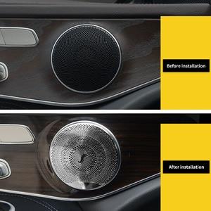 Image 5 - 4 adet araba hoparlörü kapak trim çıkartmalar Mercedes Benz için W213 W205 GLC AMG E C sınıfı serisi kapı Tweeter süslemeleri çıkartmalar
