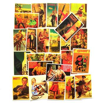 25Pcs Mixed Stalin USSR CCCP Poster Stickers for Decor Waterproof Sticker