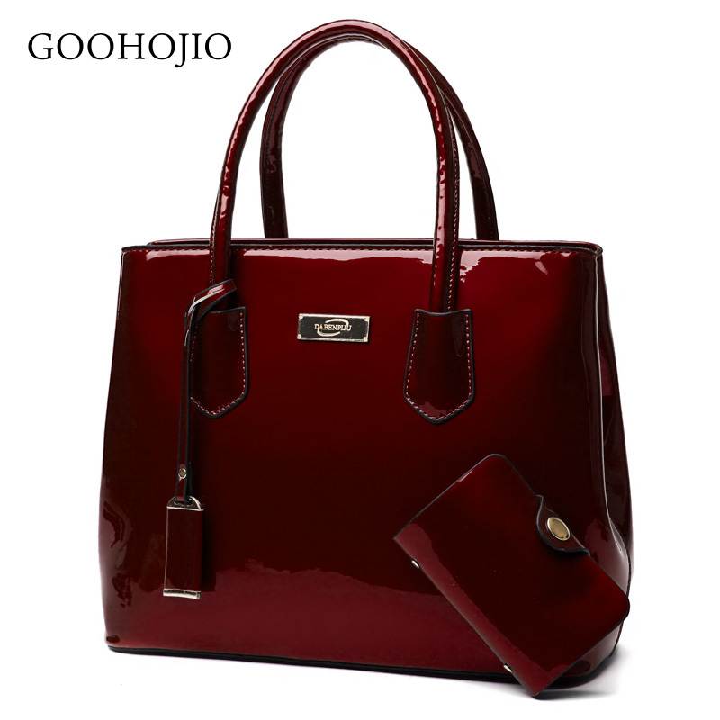 New Luxury Patent Leather Bags Women Handbags Shoulder Tote Bag Female Messenger Crossboday Bags Famous Brand Set Sac A Main Fem