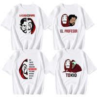 2019 hombres De diseño De La Casa De Papel T camisa dinero robo camisetas TV serie Tops camiseta De los hombres De manga corta camiseta de Casa de papel