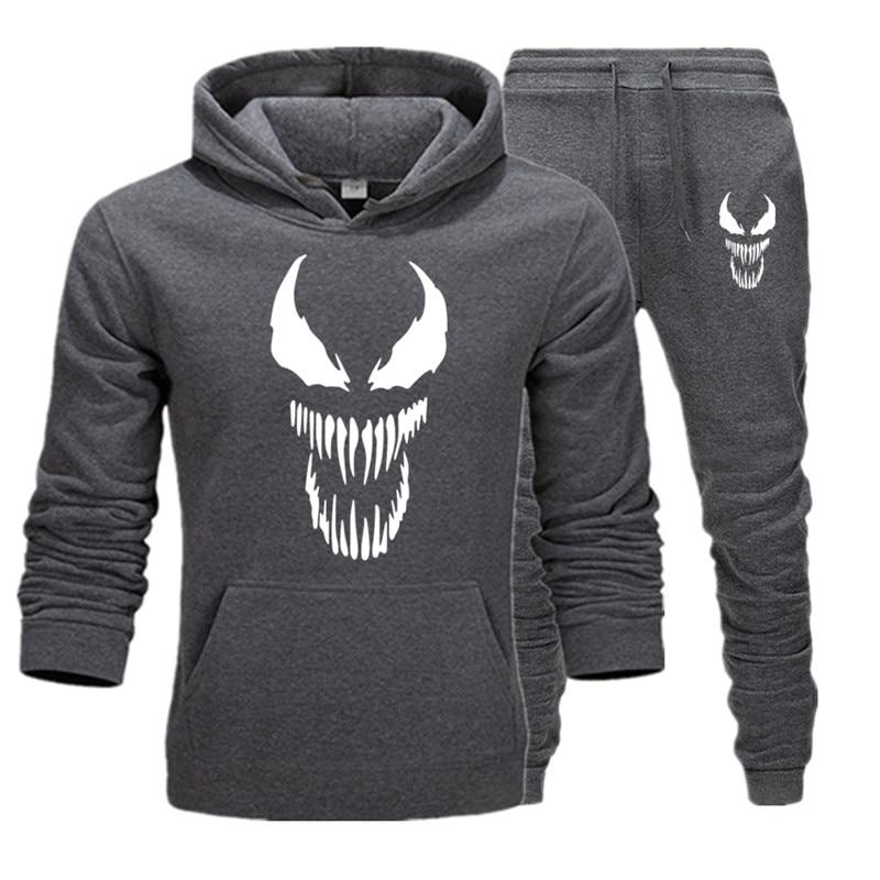 Brand Clothing Men's Casual Sweatshirts Pullover Warm Men Tracksuit Hoodies Two Piece +Pants Sport Shirts Autumn Winter Set