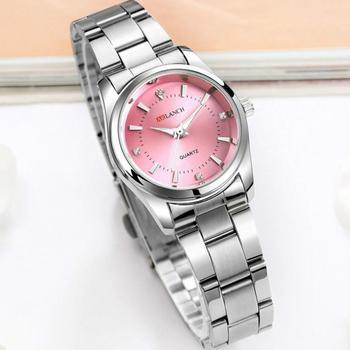 Часы наручные женские из нержавеющей стали, популярные брендовые Простые Модные водонепроницаемые Роскошные с кристаллами