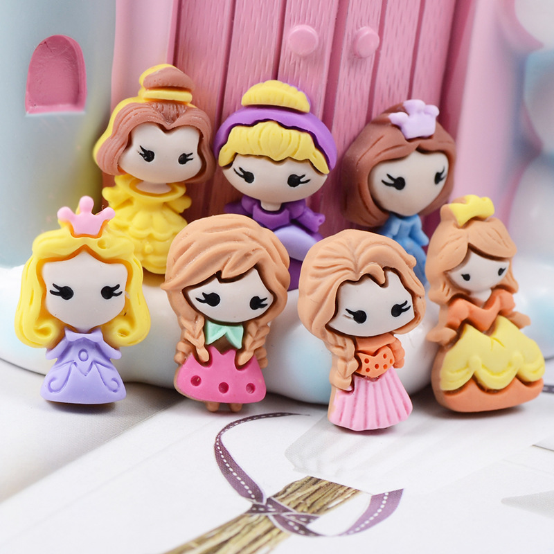 Little Princess Charms For Slime Diy Polymer Filler Addition Slime Accessories Toys Lizun Powder Modeling Clay Kit For Children