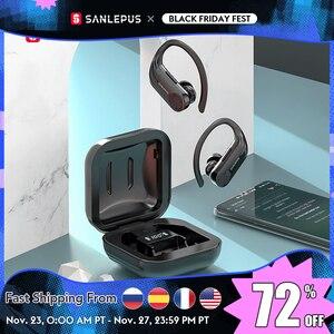Image 1 - SANLEPUS B1 Led ekran Bluetooth kulaklık kablosuz kulaklıklar TWS Stereo kulakiçi spor oyun kulaklık için Xiaomi Huawei iPhone