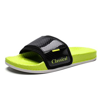 Men's open-toe slippers, flip-flops, patent-leather slippers, glossy slippers, brightly-colored slippers, men's slippers, slippe фото