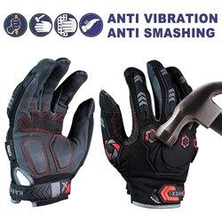 1 ペアアンチ振動作業手袋振動や衝撃手袋抗衝撃力学通気性抗スマッシング安全手袋