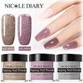 NICOLE DIARY 10 г, розовая пудра для ногтей, блестящий пигмент, блестящий порошок, декорация для ногтей градиент, украшение