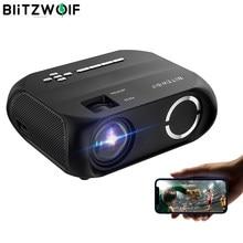 Projetor portátil Desarmulado portátil de filme ao ar livre BlitzWolf BW-VP11 LCD HD 1280x720P 200ANSI Home CinemaTheater Outdoor Movie projetores portáteis Projetores sem fio Streaming Mini Projetor de Vídeo