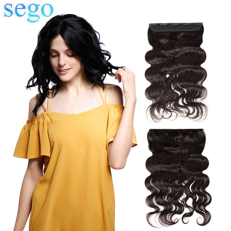 Hair-Clip Human-Hair-Extensions Brazilian-Hair 100g SEGO 20-22-Weave Body 1p/Set Pure-Color