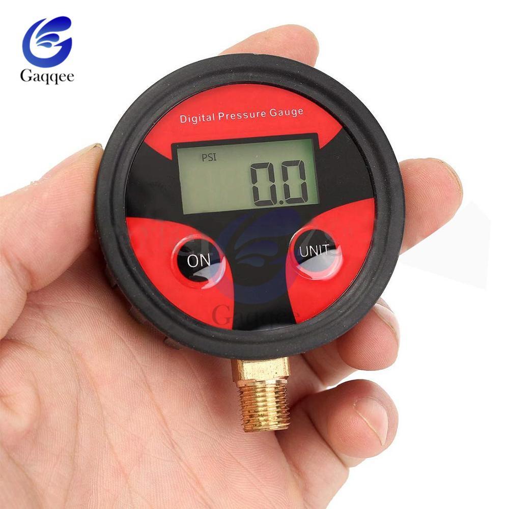 0-200PSI Car Truck Bike Auto Car Tyre Tire Air Pressure Gauge Dial Meter Tester Copper+Rubber Digital Tire Pressure Gauge Tool