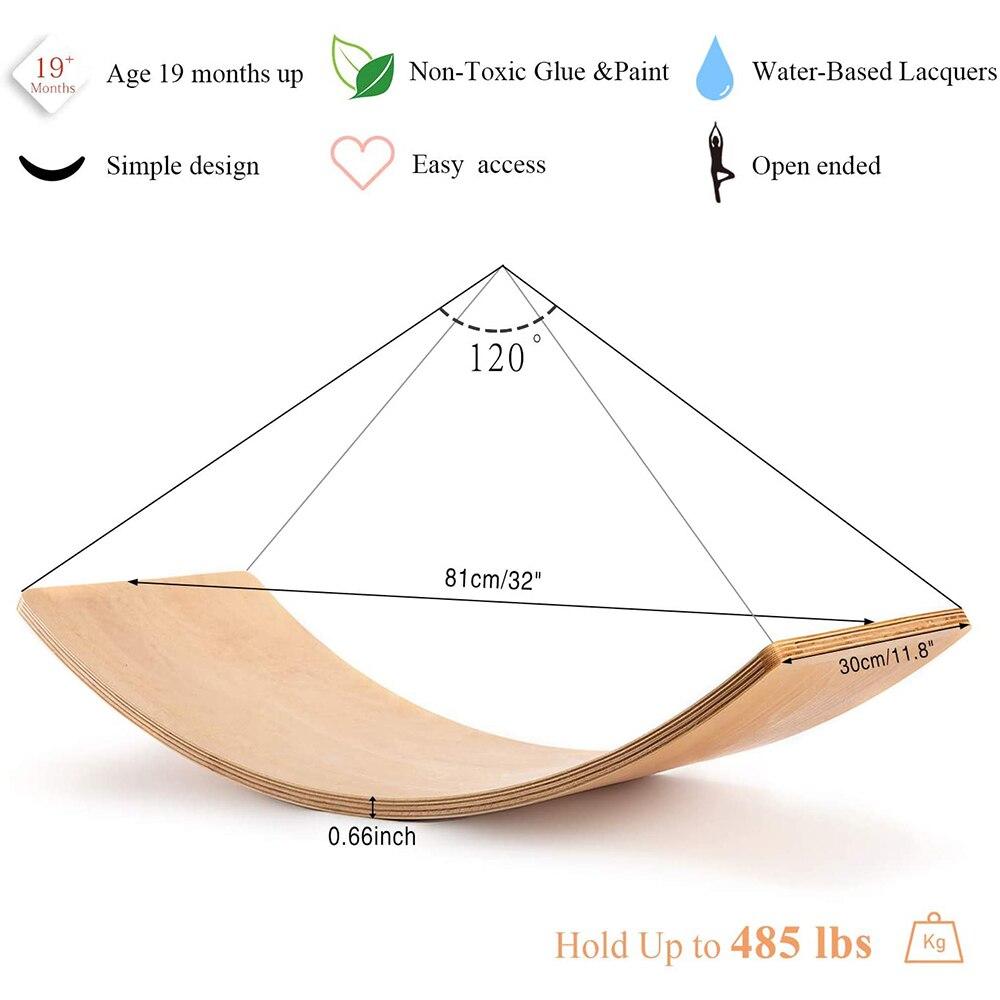 Placa de equilíbrio de madeira para crianças,