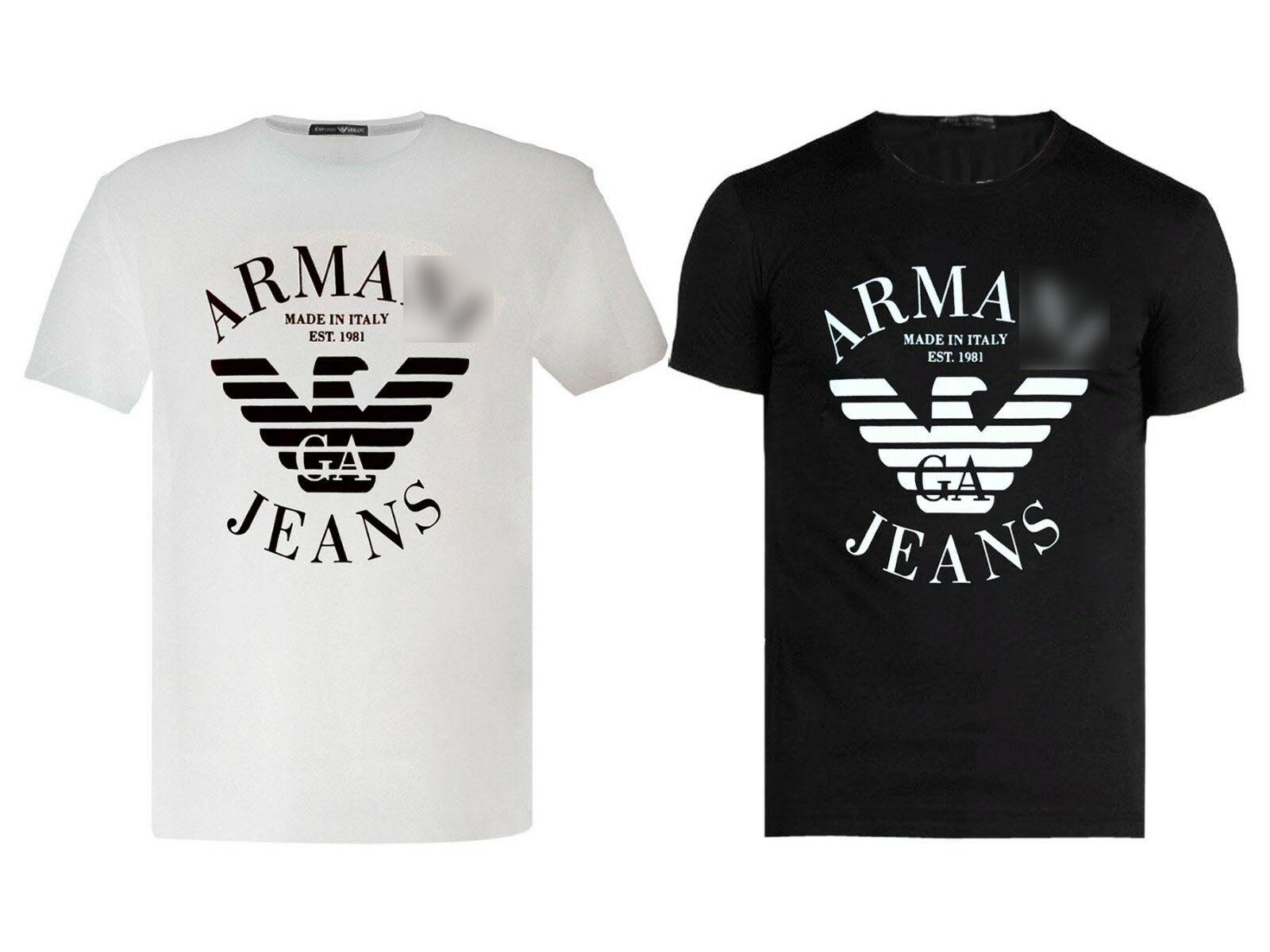 Armany AJ T-Shirt Blouse AX ALL COLORS Shirt Shirt Top Short Sleeve Cotton White Black-Mens Womens Tee Hoodie Free Shipping