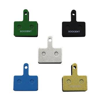 цена на 4 Pairs MTB Bicycle Resin Semimetal Disc Brake Pads For Shimano B01S M375 M395 M446 M485 M486 M416 Deore M515 M525
