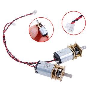 Caja de engranajes de reducción de velocidad lenta, 1 unidad de CC, 3V-6V, 5V, 55rpm, Micro reductor de Metal N20