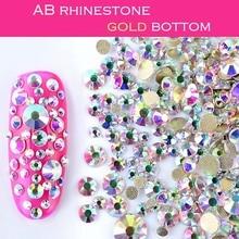 FlorVida 6 Colors Strass Nail Art Rhinestone Picker Up Rhinestones Tools Color Silver Gold Plane Bottom Crystal Charm