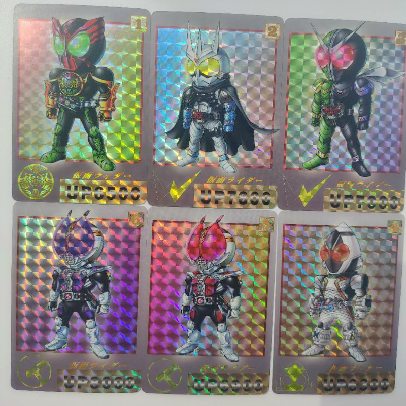 6pcs/set Masked Ride Game Action Toy Figures Commemorative Edition Collection Cards Anime Cards Game Collection Cards