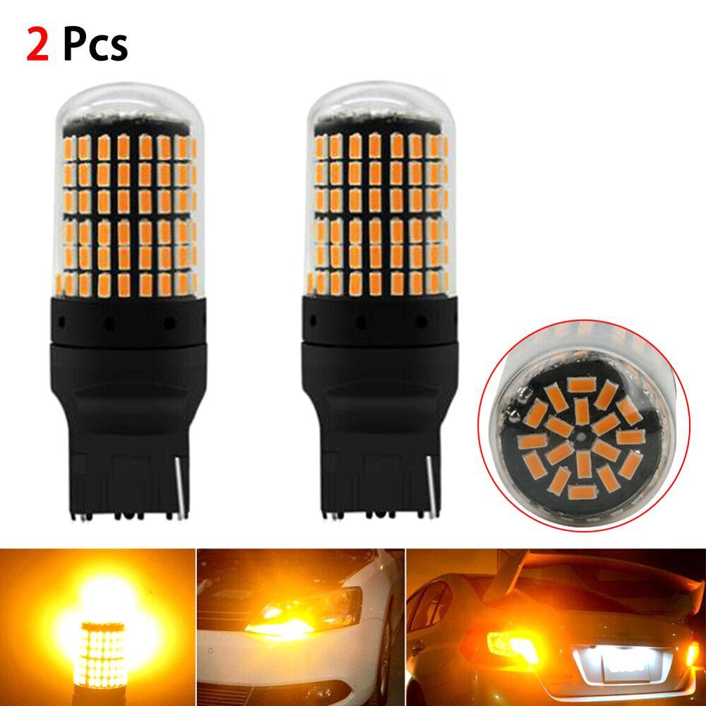 รถ LED กระพริบเลี้ยวสัญญาณหลอดไฟสำหรับ Ford Toyato Honda Amber สีเหลืองไฟท้ายไฟสัญญาณหลอดไฟ