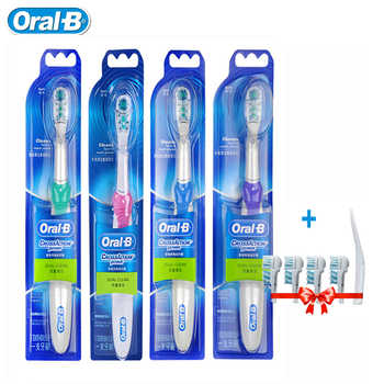 Oral B Cross Action Electric Toothbrush Teeth Whitening Sonic Tooth Brush Non-Rechargeable Dual Clean +4 Replace Brush Head Gift - DISCOUNT ITEM  47% OFF All Category