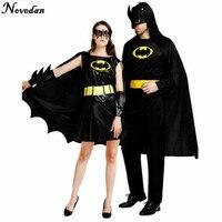 Костюмы на Хэллоуин для мужчин, взрослых, Бэтмен, Супер герои, сексуальные женские, косплей, черное платье, карнавальный костюм