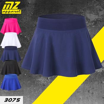 MZ Sports Culottes krótkie dwie sztuki-anty-ekspozycja elastyczność szybkoschnący tenis wolant Running Yoga Dance 3075 tanie i dobre opinie Solid Color Guangdong