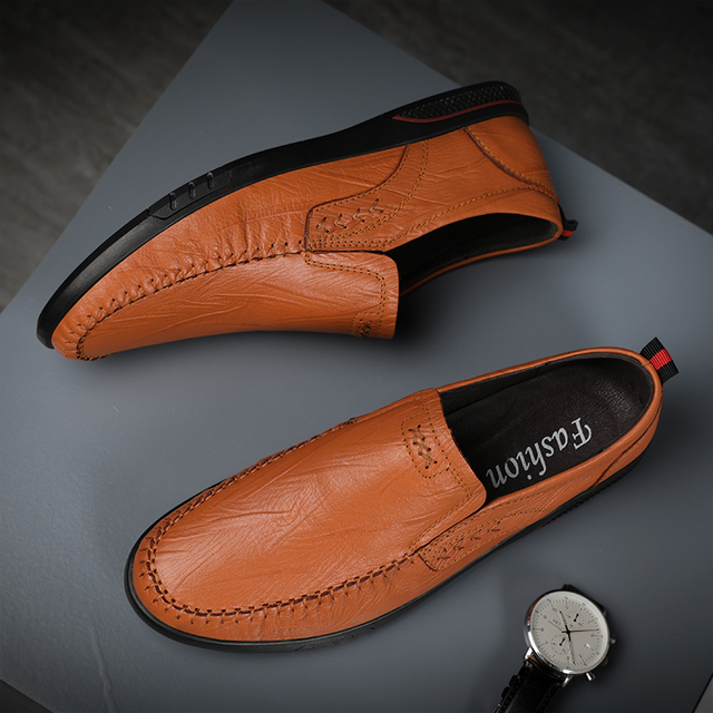 Фото мужские повседневные туфли из натуральной кожи удобные уличные