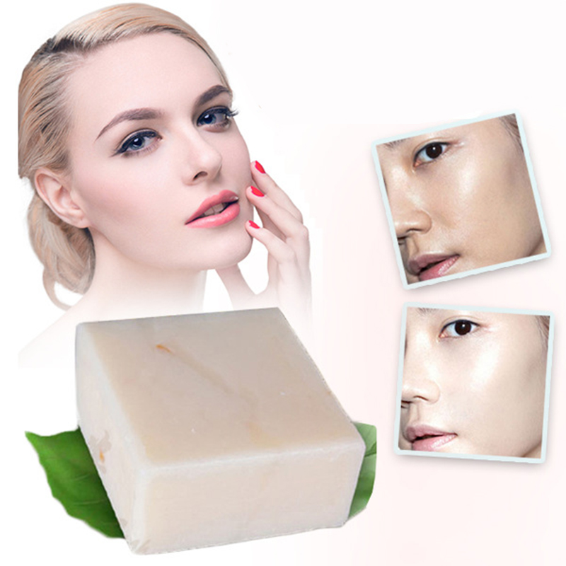 Handmade Rice Milk Soap Collagen Vitamin Whitening Brighten Skin Removal Moisturizing Bleaching Face Body Cleaning Soap TSLM2