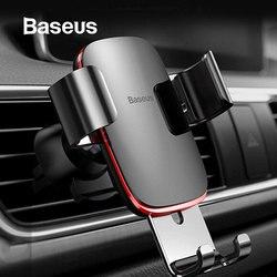 Baseus Air Outlet держатель для телефона в автомобиле авто-блокировка гравитационный Автомобильный держатель Универсальный держатель для телефон...