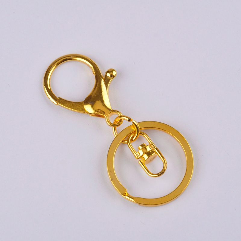 Image 3 - 100piece 35mm Lobster Clasp Hook and 30mm Ring Keychain Split  Keyring For DIY  Jewelry Making AccessoriesJewelry Findings