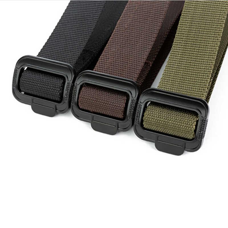 Tactical Tela di canapa del Progettista Cinture Per Pantaloni Jeans Elastico di Nylon Cintura Nera casual Lungo Cinghia di Vita Equipaggiamento Militare Dell'esercito Degli Uomini Della Cinghia