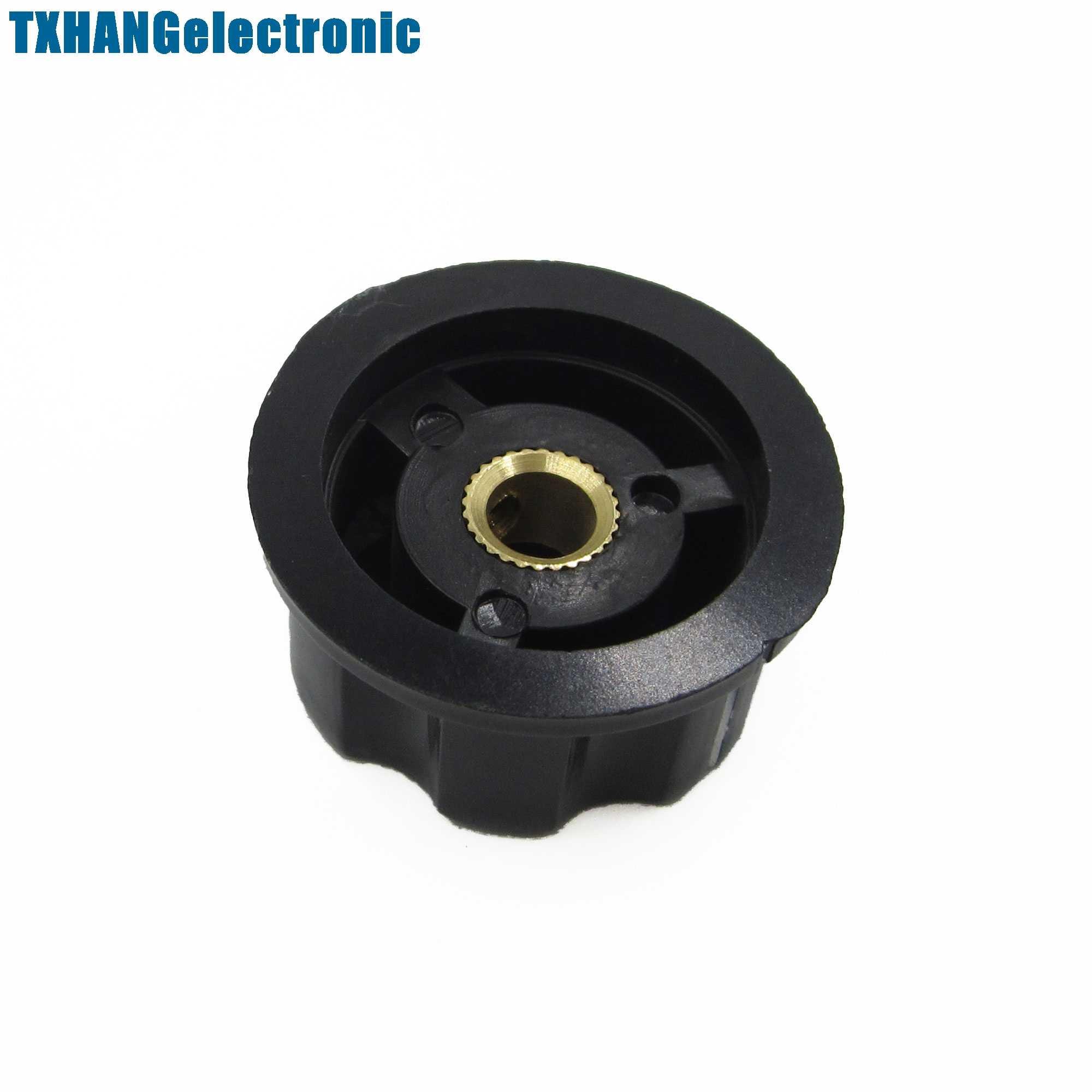 2PCS Adjustable Turn Shaft Insert 16mm Top 6mm Dia Potentiometer Rotary Knobs