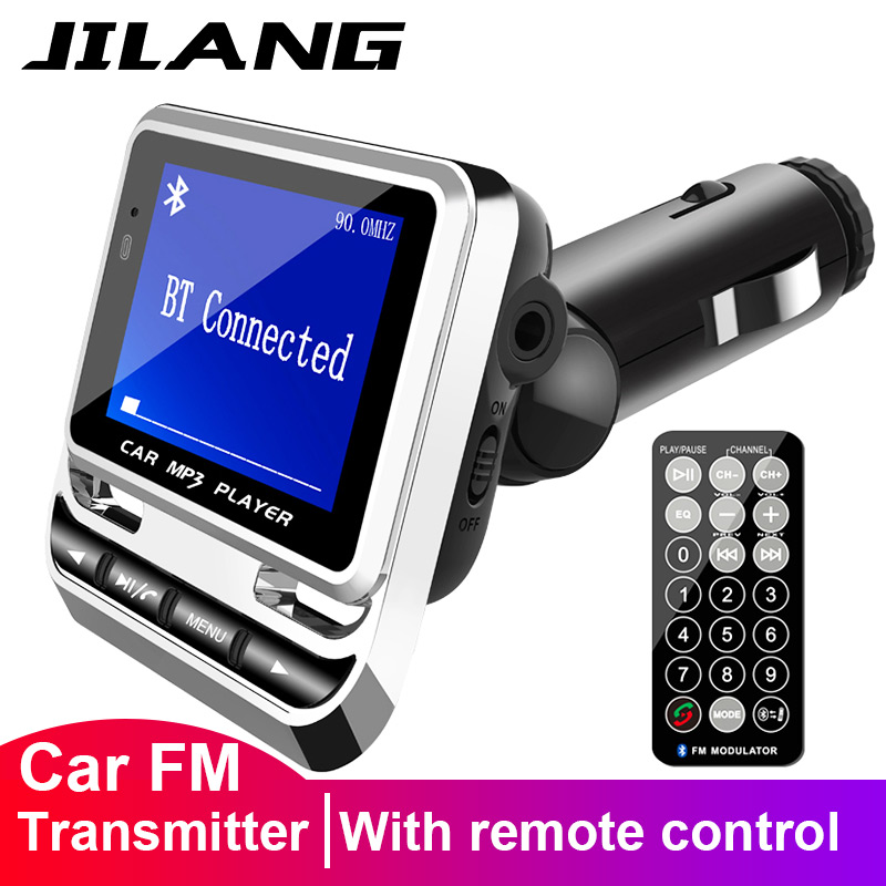 Wireless Bluetooth FM Transmitter MP3 USB LCD Car Kit Charger For iPhone X 8 7 6
