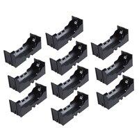 Plástico único 26650 caixa de armazenamento de suporte de bateria 10 pces preto